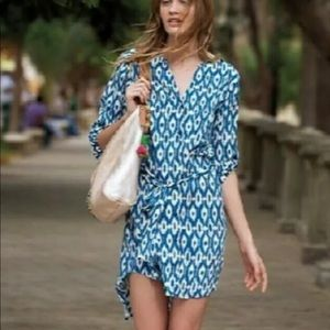 Anthropologie Maeve Ikat Frequencies Dress